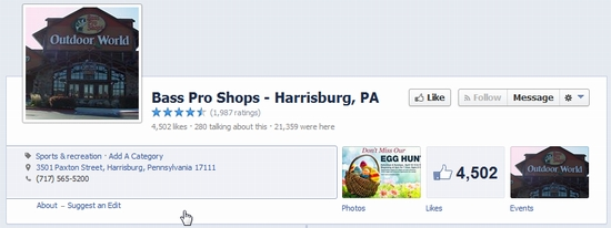 Fan pages on Facebook have all the business contact info to help you get social media customers